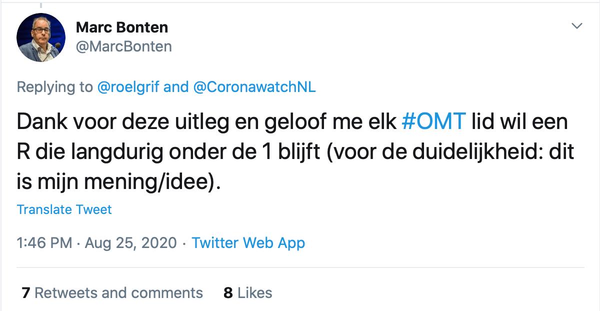 Het OMT is voor een R<1 - HOE DAN