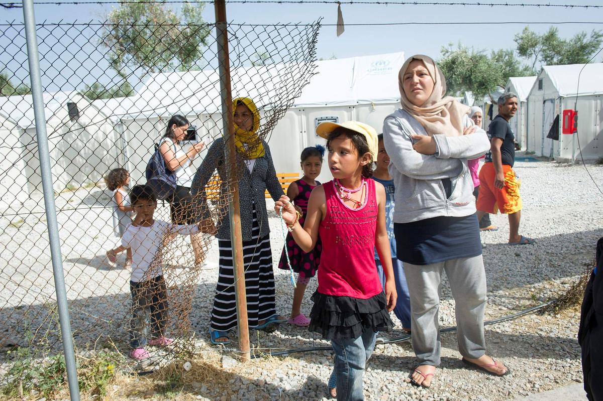 Vluchtelingenkamp Kara Tepe op Lesbos